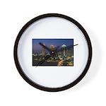 Atlanta City Skyline Wall Clock