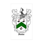 Foster Family Crest Rectangle Sticker 50 pk)