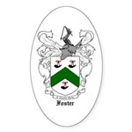 Foster Family Crest Oval Sticker (10 pk)