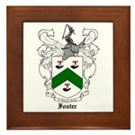 Foster Family Crest Framed Tile