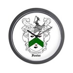 Foster Family Crest Wall Clock