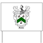 Foster Family Crest Yard Sign