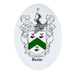 Foster Family Crest Oval Ornament