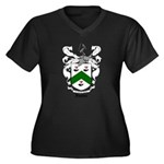 Foster Family Crest Women's Plus Size V-Neck Dark