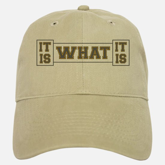 It Is What It Is Gray and Gold Baseball Baseball Cap