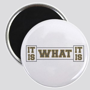 It Is What It Is Gray and Gold Magnet