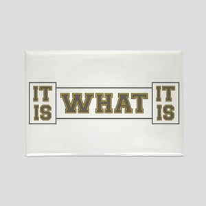 It Is What It Is Gray and Gold Rectangle Magnet