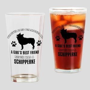 Schipperke Mommy Designs Drinking Glass