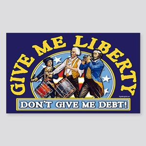 Give Me Liberty! Rectangle Sticker
