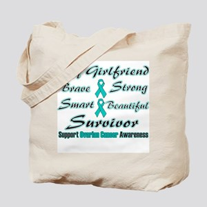 Ovarian Girlfriend Words Tote Bag