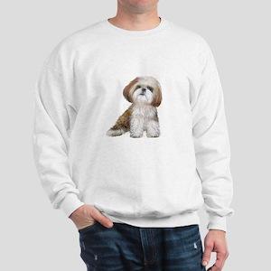 Shih Tzu (red-Wte) Sweatshirt