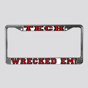 Tech Wrecked Em License Plate Frame
