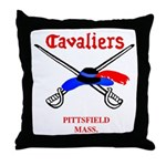 Pittsfield Cavaliers Throw Pillow