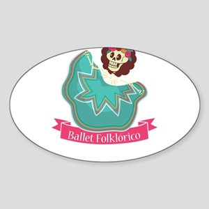 Ballet Folklorico Mexican Sugar Skull Ball Sticker