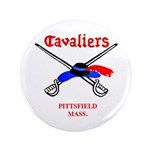 """Pittsfield Cavaliers 3.5"""" Button"""