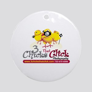 3 Chicks That Stick Ornament (Round)