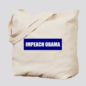 Impeach Obama Blue Tote Bag