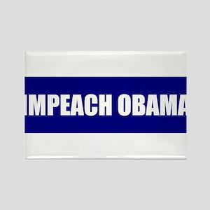 Impeach Obama Blue Rectangle Magnet