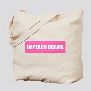 Impeach Obama Pink Tote Bag