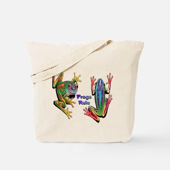 Frogs Rule Tote Bag