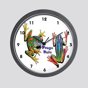 Frogs Rule Wall Clock