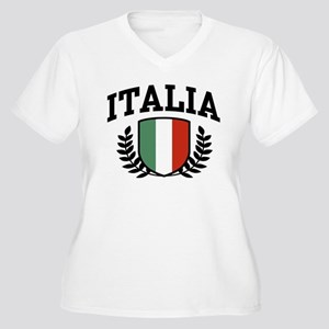 Italia Women's Plus Size V-Neck T-Shirt
