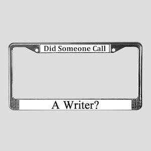 Writer License Plate Frame