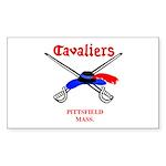 Pittsfield Cavaliers Rectangle Sticker 50 pk)