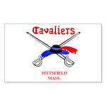 Pittsfield Cavaliers Rectangle Sticker 10 pk)