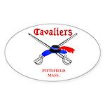 Pittsfield Cavaliers Oval Sticker (10 pk)