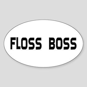 Dental Floss Boss Oval Sticker