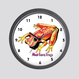 Must Love Frogs Wall Clock