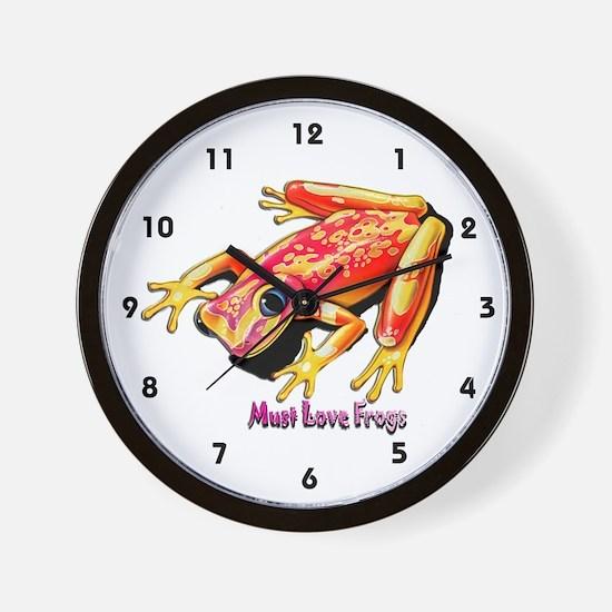 Must Love Frogs Wall Clock