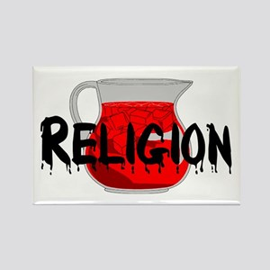 Religion Brainwashing Drink Rectangle Magnet