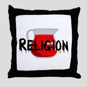 Religion Brainwashing Drink Throw Pillow
