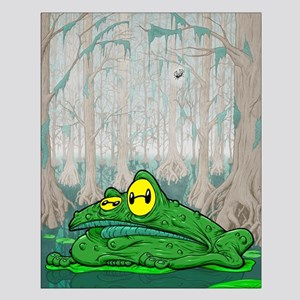 Frog in a Bog Small Poster