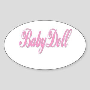 BabyDoll Oval Sticker