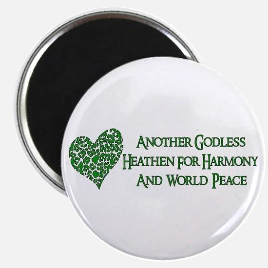 "Godless For World Peace 2.25"" Magnet (100 pack)"