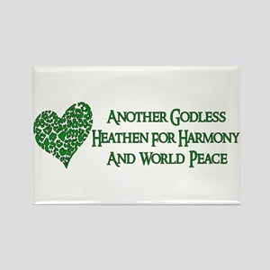 Godless Heathen For Peace Rectangle Magnet