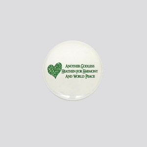 Godless Heathen For Peace Mini Button