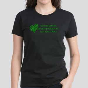 Godless For World Peace Women's Dark T-Shirt