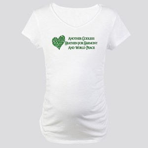 Godless For World Peace Maternity T-Shirt