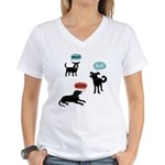 Woof Bark Arf Women's V-Neck T-Shirt