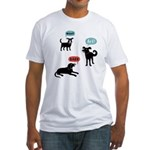 Woof Bark Arf Fitted T-Shirt