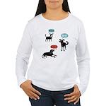 Woof Bark Arf Women's Long Sleeve T-Shirt