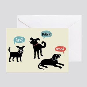 Arf Bark Woof Greeting Card