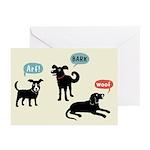 Arf Bark Woof Greeting Cards (Pk of 20)