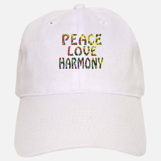 peace love harmony Baseball Baseball Cap