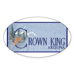 Crown King Oval Sticker