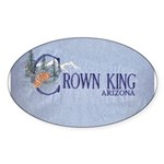 Crown King Oval Sticker (50 pk)